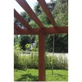 mourão de madeira maciça preço Granja Viana