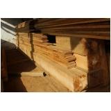 mourão de madeira maciça Butantã