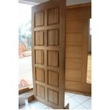 quanto custa porta de madeira para área externa Vila Sônia