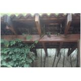 viga de madeira para telhado Morumbi